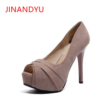 12CM Ultra High Heels Platform Nude European American Fashion Nightclubs Female Red Bottom High Heels with Fish Mouth Sexy Shoes american ultra high heel fashion nightclubs sexy thin with thin shoes crossed with water platform fish mouth women s shoes
