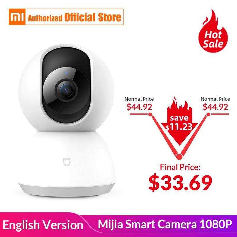 English Version Xiaomi Mijia Smart Camera 1080P WiFi Wireless App Control Cradle Head 360 Angle Vision