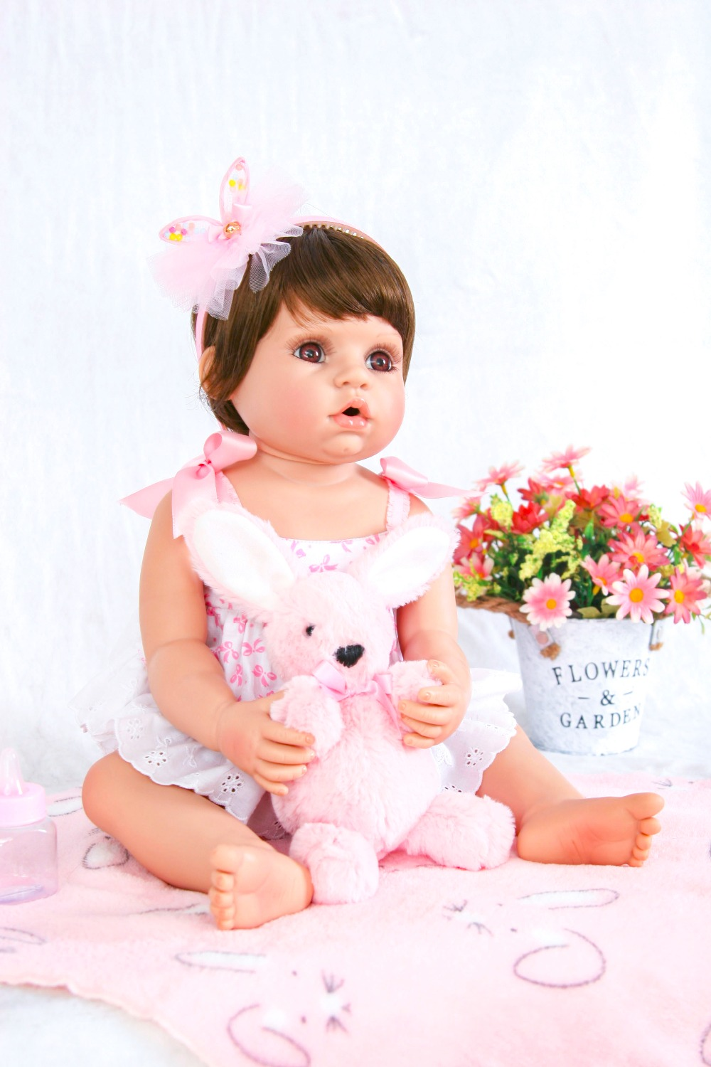 Hot Sale Reborn Baby Dolls Realistic Girl Princess 22 inch Baby Dolls Alive Reborns Toddler bebe