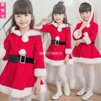 Children's Christmas clothing Santa dress up girls show clothing long sleeved Christmas costumes