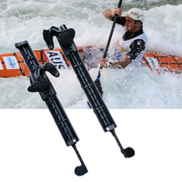 1 Pair Water Sports Watercraft Fishing Boat Kayak Canoe Rudder with Foot Braces Pedal Pegs Accessories Black