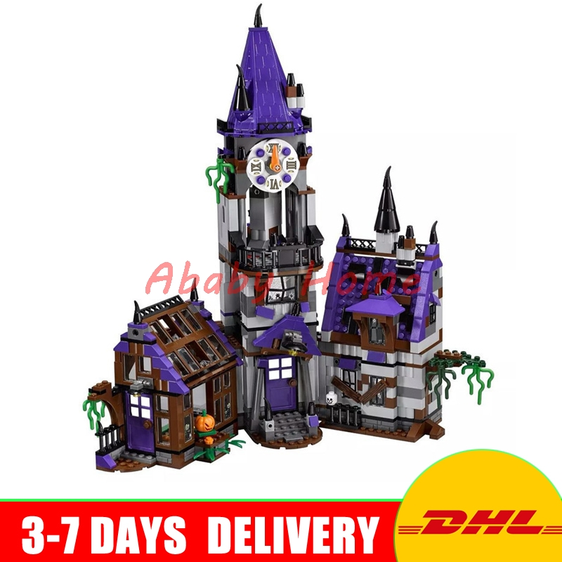 DHL Bela 10432 Scooby Doo Mysterious Ghost House 860pcs Educational Building Blocks Bricks Model Toys Gifts compatible 75904 bela 10429 scooby doo mummy museum mysterious plane minifigures building block minifigure toys best legoelieds toys