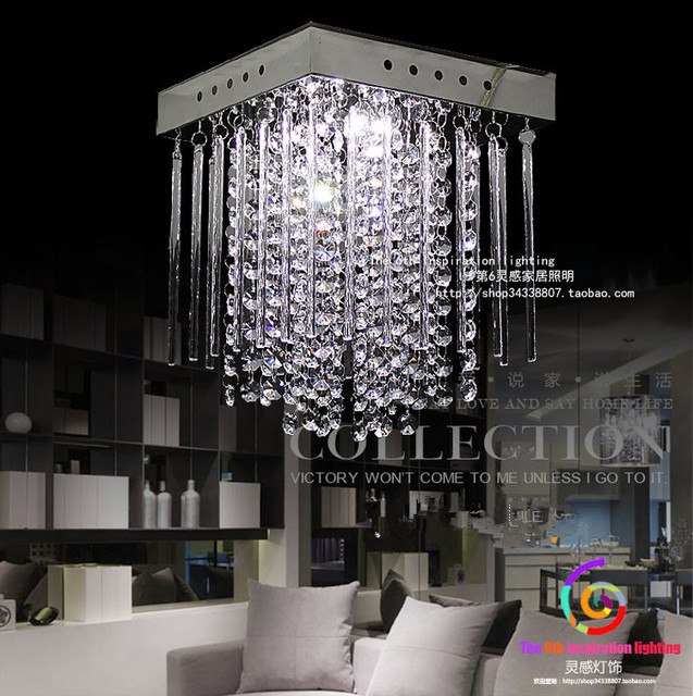 Aliexpress buy new square k9 crystal chandeliers led lamps new square k9 crystal chandeliers led lamps high power led lights crystal chandelier led lustre chandeliers aloadofball Images