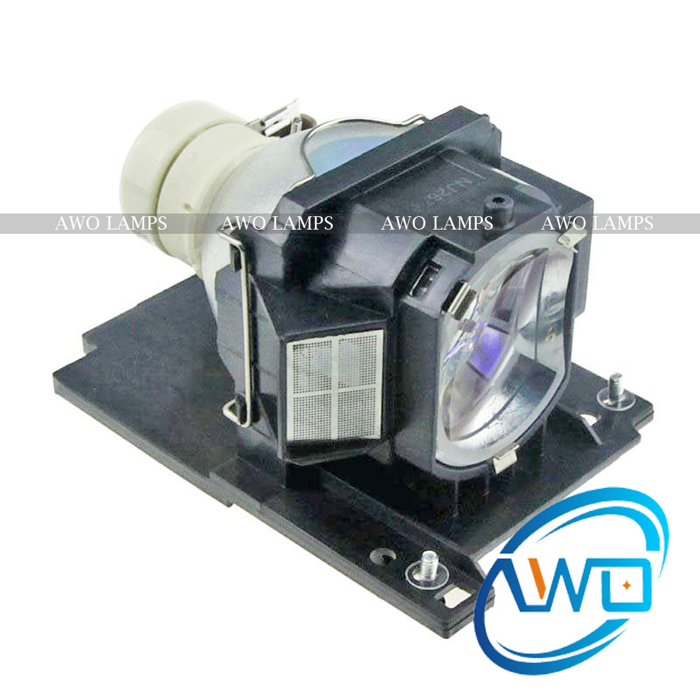 AWO Replacement Projector Lamp DT01022 /CPRX80LAMP with Housing for HITACHI CP-RX78/RX78W/RX80/RX80W/ED-X24 dt01151 projector lamp with housing for hitachi cp rx79 ed x26 cp rx82 cp rx93 projectors