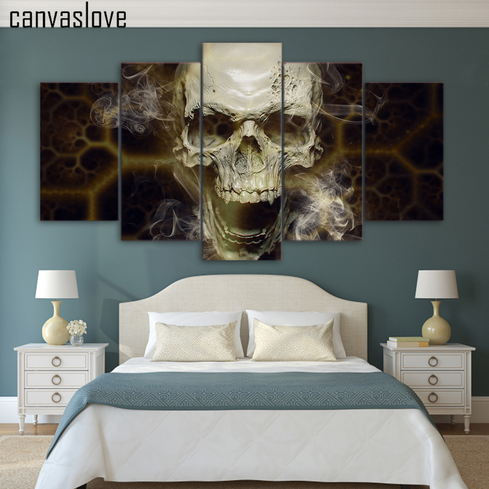 Skull Bedroom Decor Compare Prices On Skull Canvas Wall Art Online Shopping Buy Low