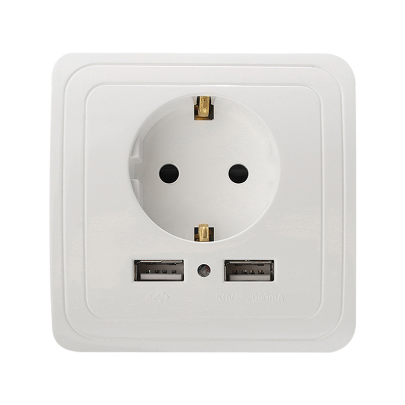 Home Useful Wall Charger Adapter EU Plug Socket 2.1A High Quality Power  Outlet Panel