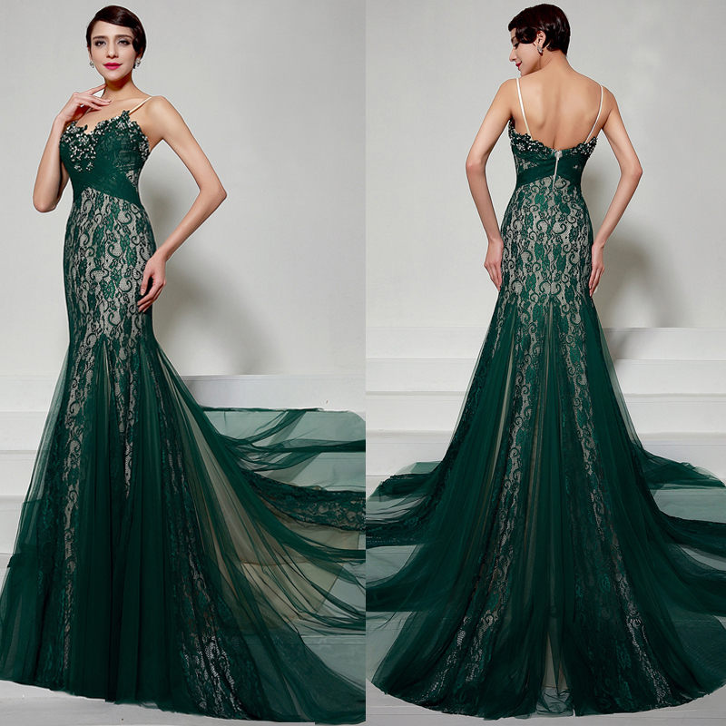 Emerald Green Evening Dresses