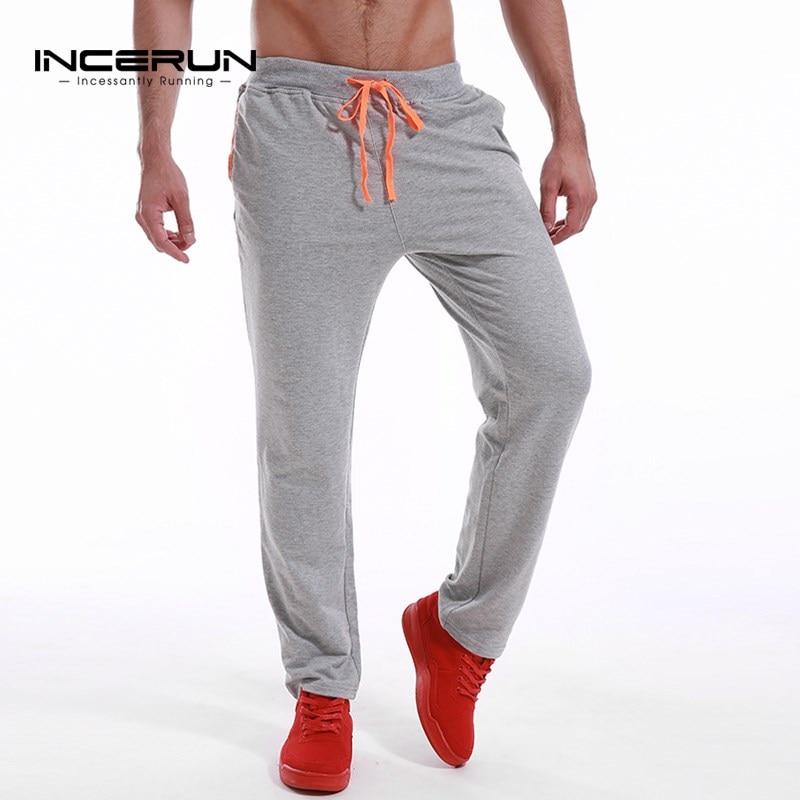 INCERUN Mens Casual Slim Fit Long Sweats Pants 2018 Autum Male Fashion Joggers Tracksuit Bottoms Trouser Spantalones S-3XL