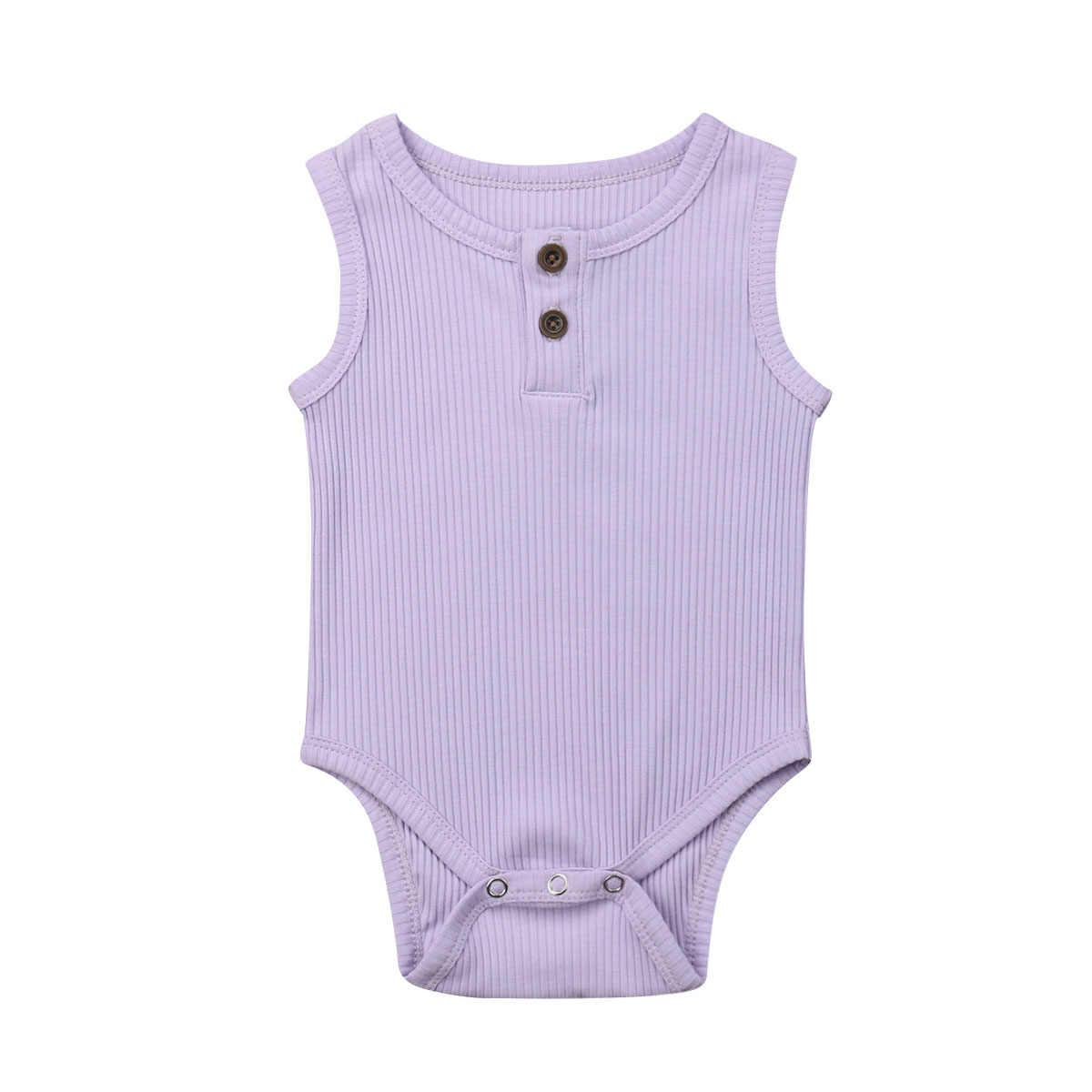 Baumwolle Sommer Neugeborenen Baby Kleidung Bodys Nette Casual Baby Jungen Mädchen Streifen Solide Overall Outfits Kleidung Kinder Kostüme