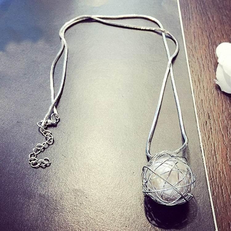 Simple Chain Modern Girl New Long Necklace Women Pendants Fashion ...