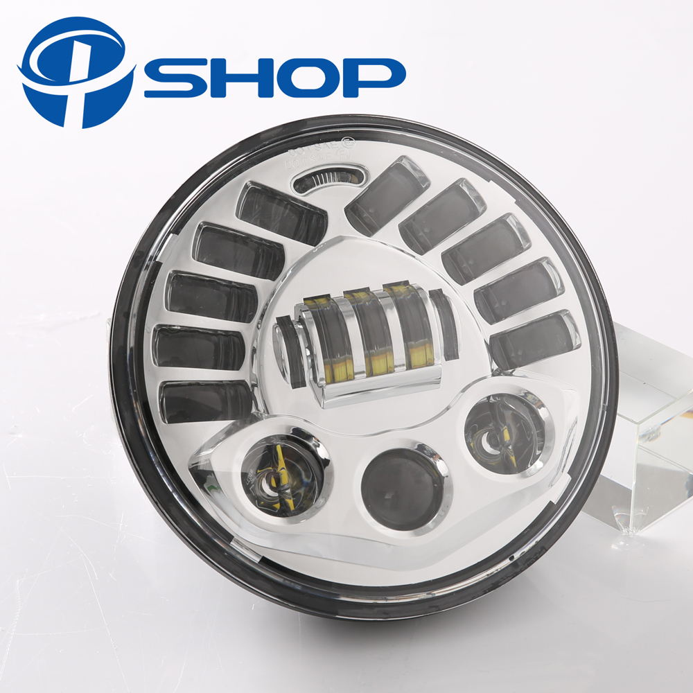 7 Moto adaptive Motorcycle Headlight LED Light For Harley 7 Inch H4 Led headlamp with High Low Beam Projector Daymaker
