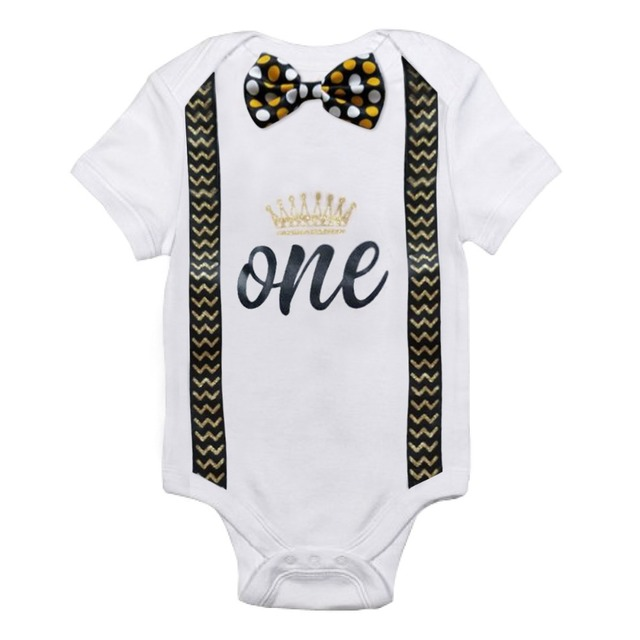 Baby's Birthday Printed Rompers