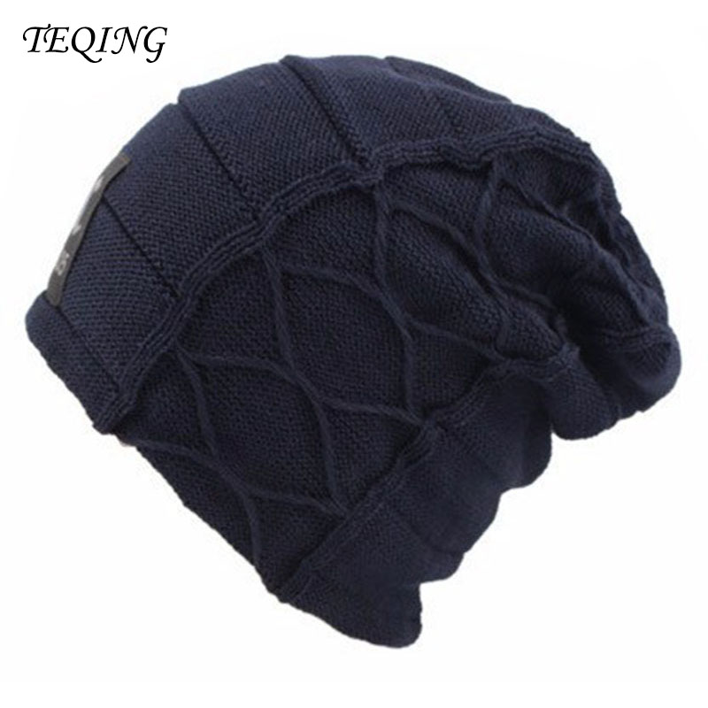 Mens Womens Winter Knitted Crochet Slouch Ski Cap Beanie Wool Warm Fleece Hat H