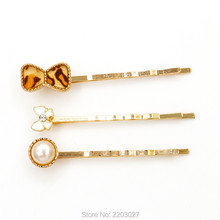 Fashion Cheap Pearl Crystal Bow Hairpins Hair Clips Bridesmaid Hair Jewelry Accessories