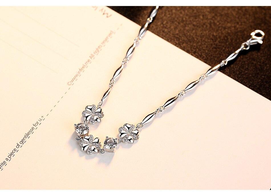 S925 sterling silver bracelet silver female simple couple girlfriends jewelry CHB05S925 sterling silver bracelet silver female simple couple girlfriends jewelry CHB05