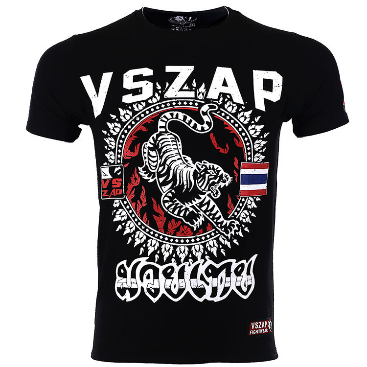 VSZAP Boxing MMA T Shirt Bangkok Gym Tee Shirt Fighting Fighting Martial Arts Fitness Training Muay Thai T Shirt Men Homme
