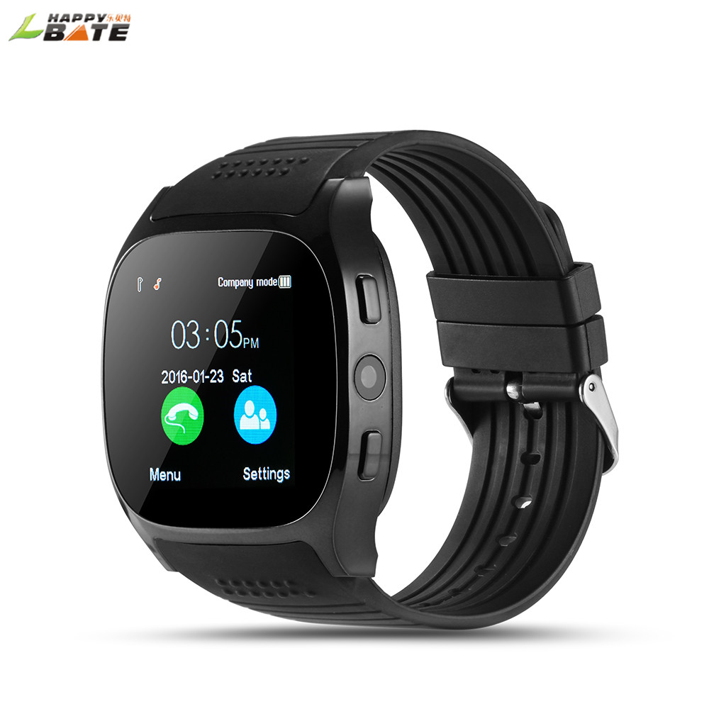HAPPYBATE T8 Bluetooth Smart Watch With Camera Music Player Facebook For Android Phone watch pedometer sleep monitoring
