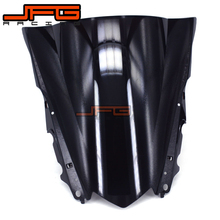 Black Windscreen Windshield for Yamaha YZF R3 YZFR3 YZF-R3 YZF R25 YZFR25 YZF-R25 2015-2016 2015 2016 Motorcycle