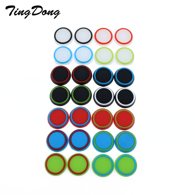TingDong 1pcs  Game Accessory Protect Cover Silicone Thumb Stick Grip Caps for PS4/3 for Xbox 360/for Xbox one Game Controllers