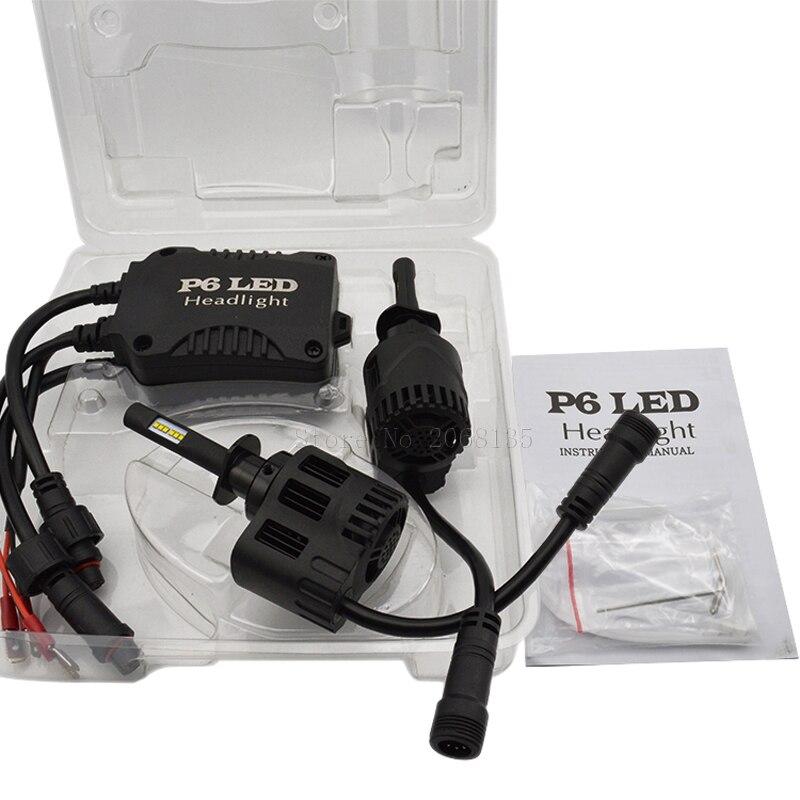 TPTOB Pair of Car LED H1 H4 H7 Led Bulb H27 H3 HB3 HB4 H11 H13 9004 9007 LED Headlight Bulbs 60W 6400lm 6000K S7 Auto Headlamp - 2