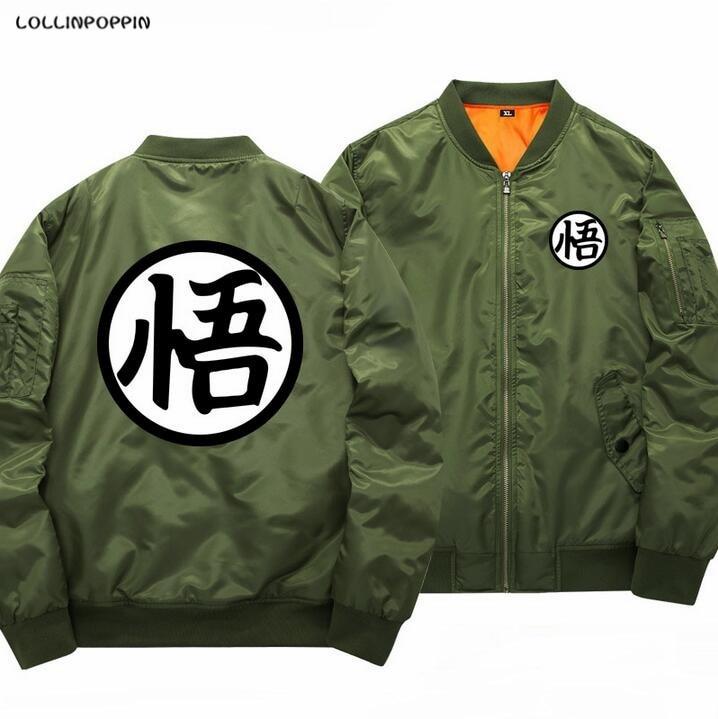 Dragon Ball Bomber Jacket Men Son Goku Printed Baseball Jackets New 2017 Mens Aviator Jackets Coats