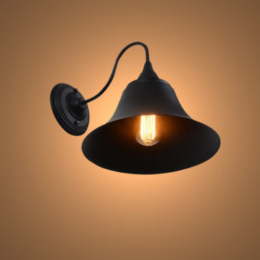 Vintage Antique Loft Retro Wrought Iron Black Painted Led E27 Edison Bulb Wall Lamp For Home Industrial Iron wall Light Fixtures