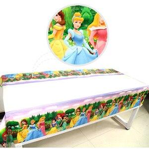 Image 5 - 108 × 180 センチメートル王女テーブルクロスキッズガールズ誕生日パーティーの装飾大人パーティー用品 anniversaire