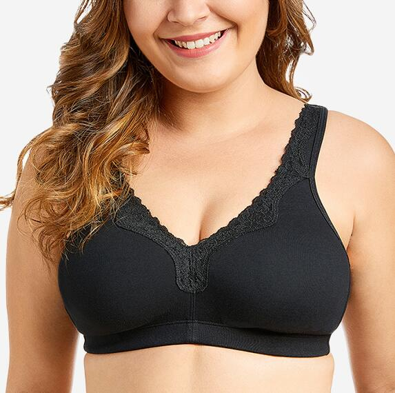 1d1358d531 BAICLOTHING Plus Size Women s Full Coverage Wirefree Unlined Lace Bra Non  Padded Lingerie 36 38 40 42 44 46 48 50 52 C D DD E F