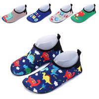 Garçons chaussures de bain pour filles dessin animé mignon dinosaure chaussures de plage pieds nus peau douce fond antidérapant enfants natation chaussettes de plongée