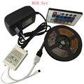 5 M 300 Leds Não-impermeável RGB Led Light Strip 3528 DC12V 60 Leds/M Flexível Corda Iluminação fita Fita Lâmpada Casa Decoração Da Lâmpada