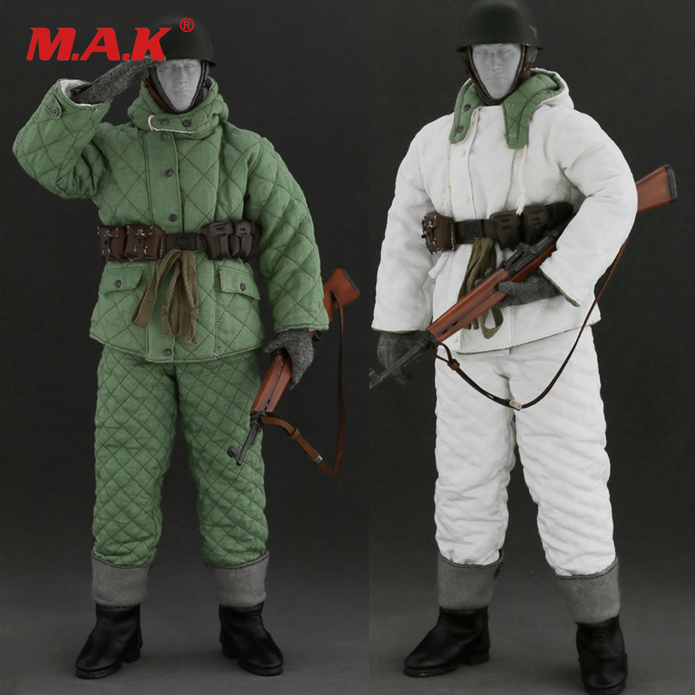 1/6 WWII Winter germany trooper Soldier Clothing Suit & Weapon Accessory Uniform Set AL10007 for 12 inches Male Action Figure 1 6 male clothes set military uniform wwii soviet army cossack cavalry clothes suit for 12 inches man action figure accessory
