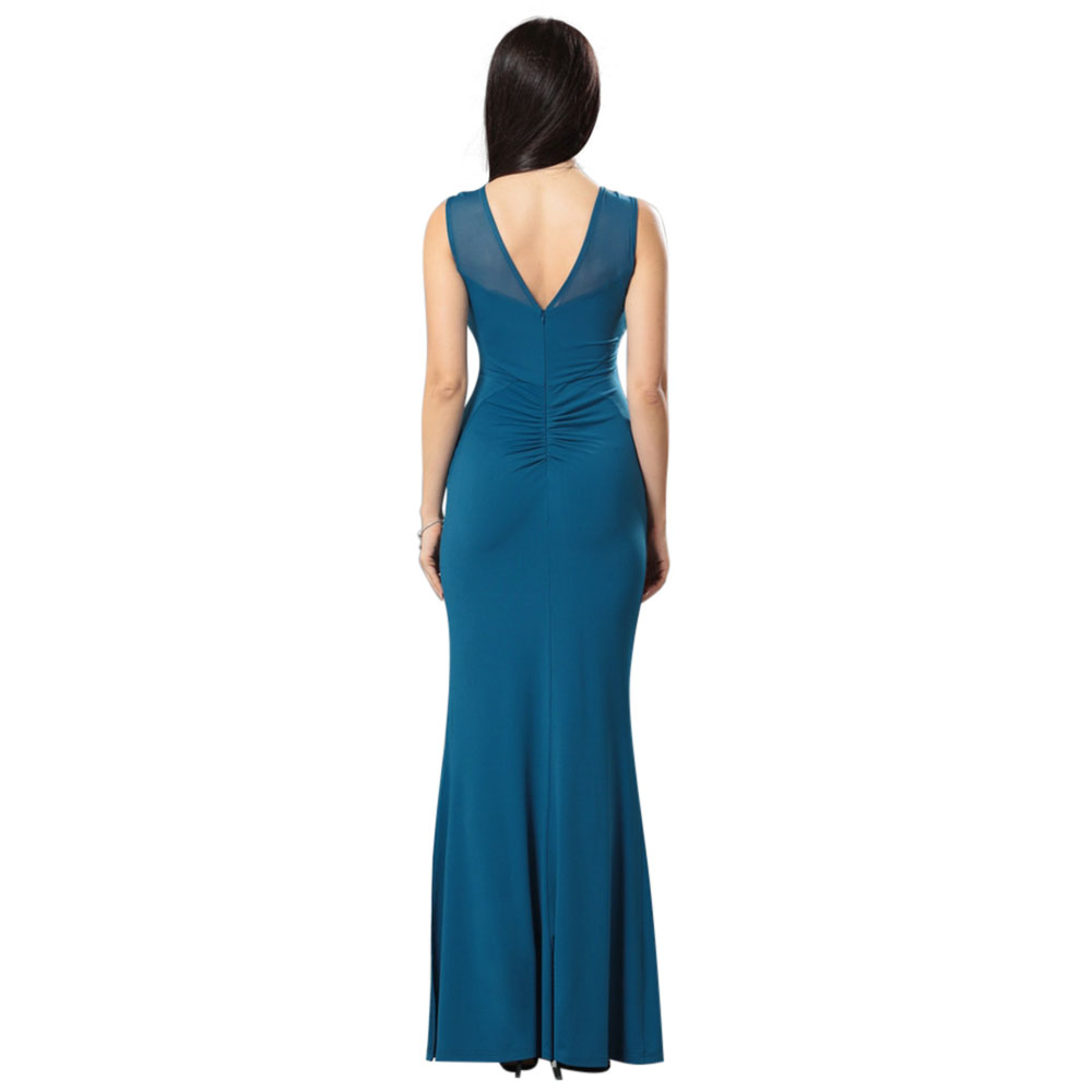 Free Shipping Fashion Lady Prom Maxi Trumpet Dress Lady Sleeveless ...
