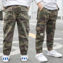 2019 Boys Pants Children Army Kids Clothes Casual Trousers For Teenage Clothing Sport Fashion Camouflage 14Y