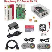 Raspberry Pi 3 Model B+ Game Kit + Gamepad + Case + 16G 32G SD Card + Power Adapter + Fan + Heat Sink + HDMI Cable for Retropie(China)