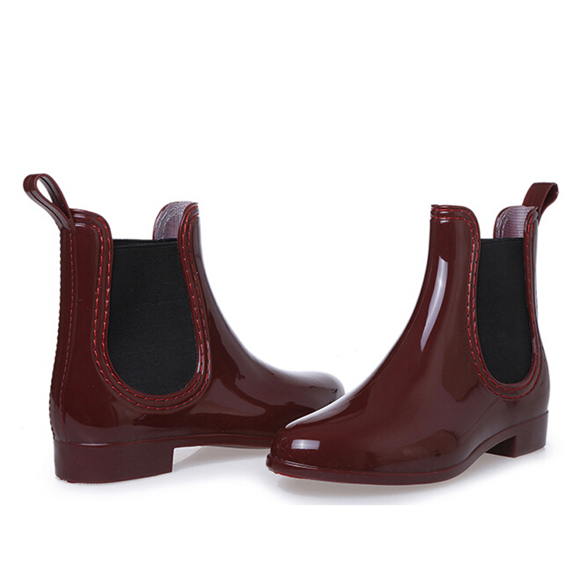 cbd9ff1be New Fashion Rain Boots Pointed Toe Women Rubber Boots Slip On Ankle Boots  Casual Platform Rain boots Ladies Shoes Woman F054-in Ankle Boots from  Shoes on ...