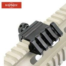 WIPSON 45 градусов угол тактический прицел крепление алюминий смещение 4 Слот боковой рельс прицел RTS Rail страйкбол 45 мм Пикатинни Вивер лазер