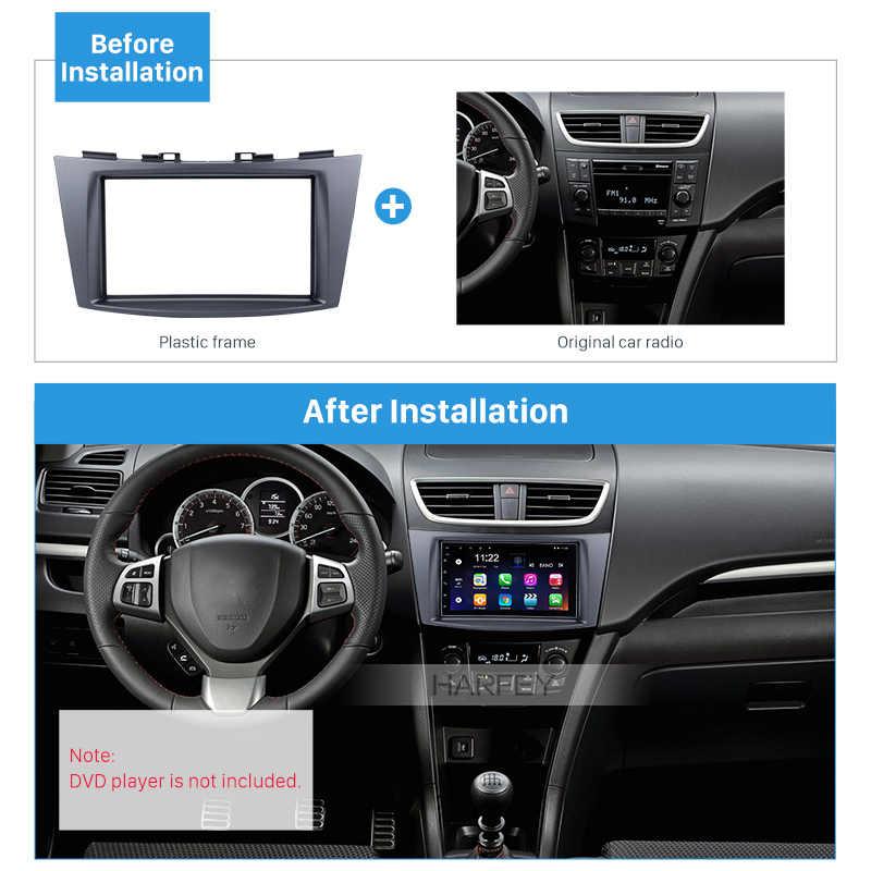 Harfey 2 Din DVD CD Установка тире рамка отделка комплект для 2012 Suzuki Swift авто стерео панель комплект монтажная рамка DVD плеер подходит