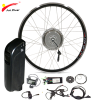 48V 500W Electric Bike Conversion Kit with Battery 48V 10ah 12ah for 700c Bicycle Wheel USB interface Scooter Hub Motor Wheel