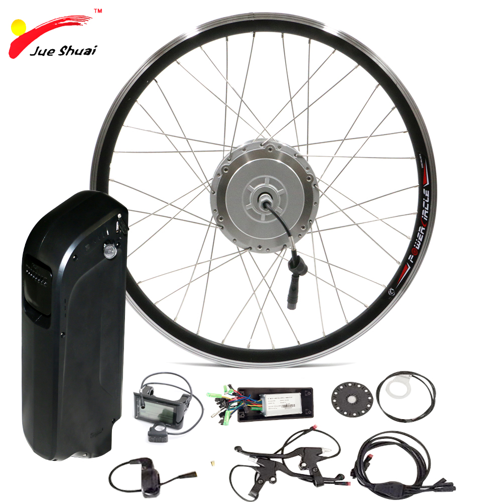 48V <font><b>500W</b></font> <font><b>Electric</b></font> Bike Conversion Kit with Battery 48V 10ah 12ah for 700c Bicycle Wheel USB interface <font><b>Scooter</b></font> Hub <font><b>Motor</b></font> Wheel image