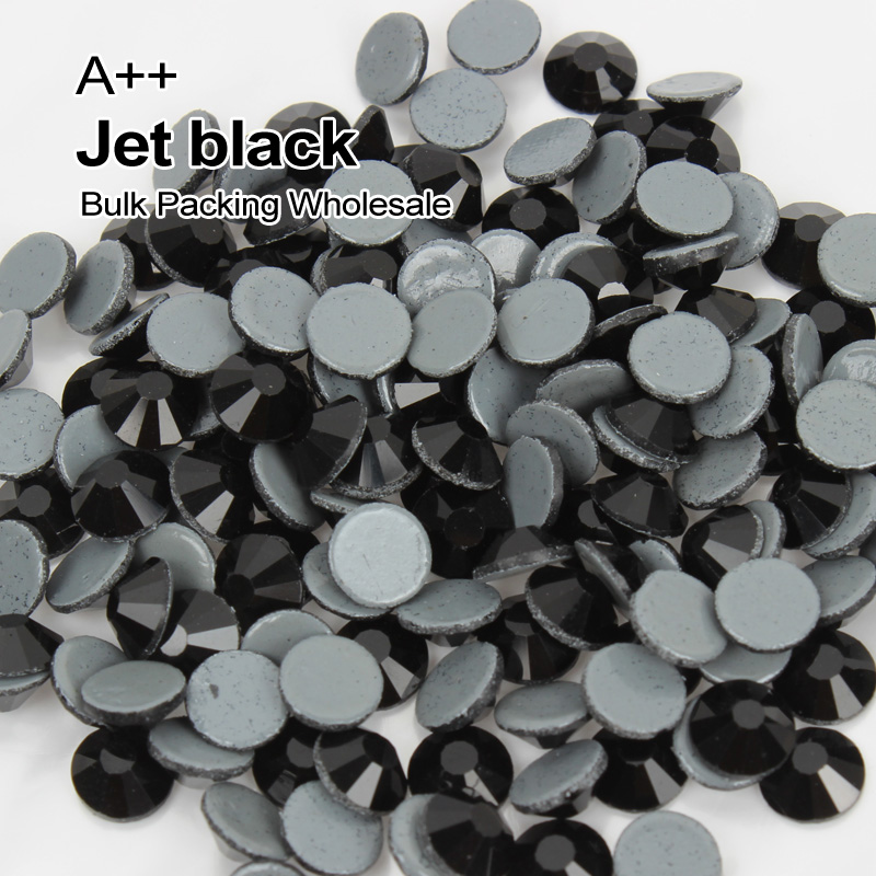 A ++ High Quality Repair Rhinestone SS6 SS30 Jet Black Stone Bulk Packing Wholesale Used For Clothe accessories Decoration