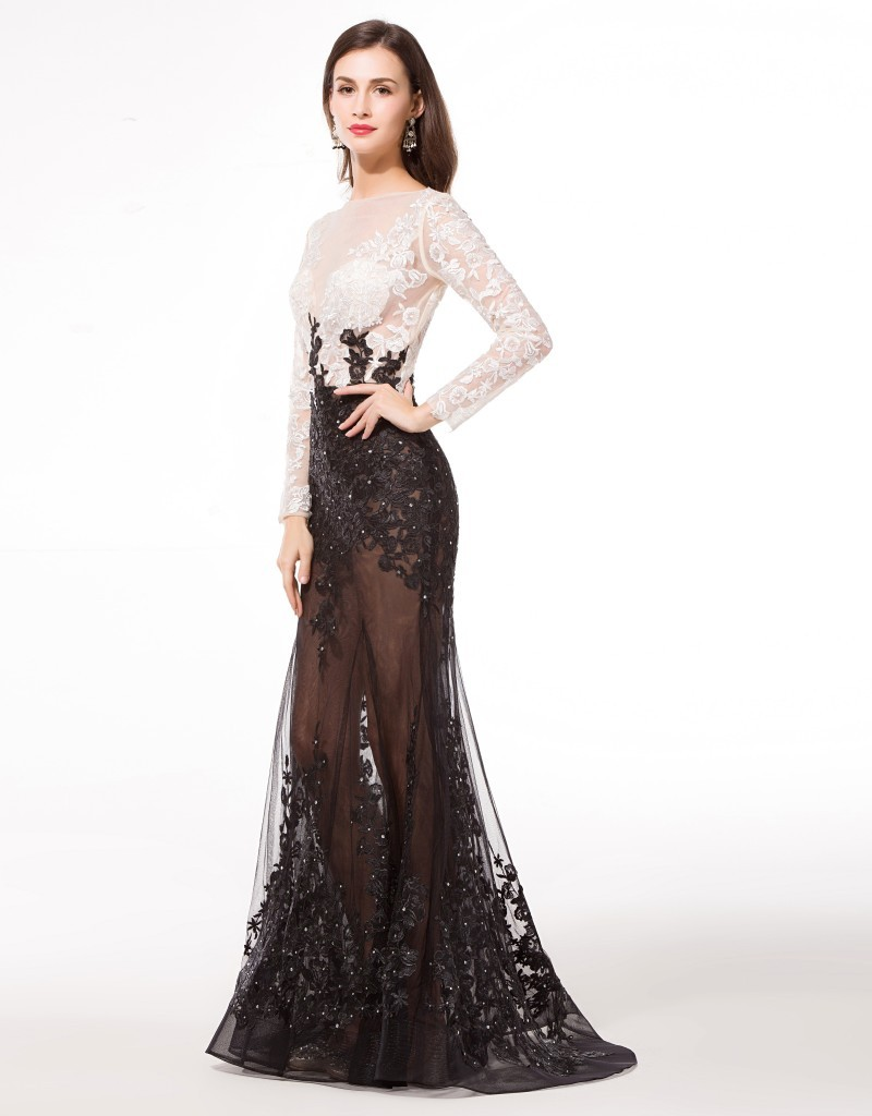image Callie black formal gown holder