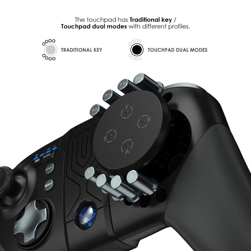 GameSir G5 avec Trackpad et Boutons Personnalisables, Moba/FPS/RoS, identité V Bluetooth Sans Fil Contrôleur de Jeu Pour Android Téléphones - 4