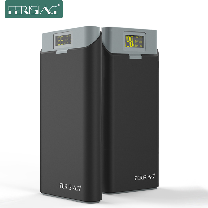 FERISING New Series 20000mah LED Display Power Bank External 18650 Lithium Battery Pover bank Powerbank Charger