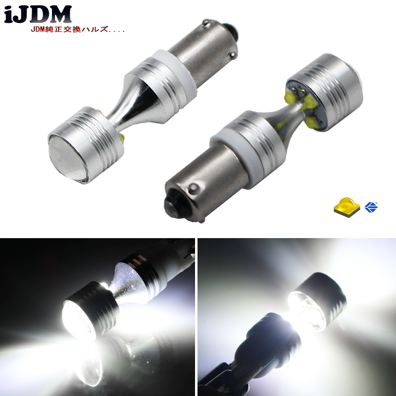 iJDM Auto <font><b>H21W</b></font> <font><b>BAY9s</b></font> 120 degress 6 x 5W High Power <font><b>LED</b></font> Lens Bulbs for Backup or Parking Lights, Base: <font><b>h21w</b></font>, <font><b>bay9s</b></font> <font><b>led</b></font>,12v image