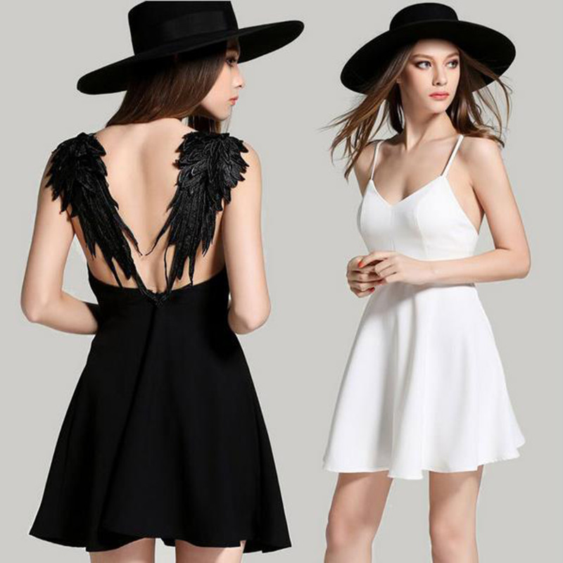 New-Summer-Women-Embroidered-Lace-Angel-Wings-Dress-Solid-Sexy-Backless-Strap-Sleeveless-Party-Mini-V