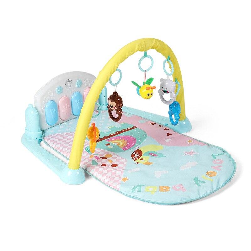 Bébé Piano musique tapis de jeu jouets activité infantile enfants tapis de sport Gym jeux éducatifs Rack Gym jouets doux bébé jouer tapis 0-36 mois