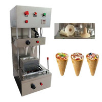 Hot selling automatic pizza cone machine with 2 moulds cone machine maker equipment