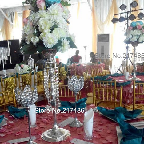 Cheap sliver mental wedding table decoration wholesale crystal cheap sliver mental wedding table decoration wholesale crystal table top chandelier centerpieces aloadofball Image collections