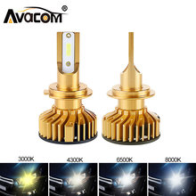2Pcs H4 LED Lamp H7 H11 H8 9006 HB4 H1 H3 HB3 H9 9012 LED 6500K 3000K 4300K 8000K 12V Car Headlight Bulb LED 10000LM Auto Lights(China)