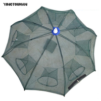 YINGTOUMAN 2 Pcs / Lot Steel wire 4/6/8/12/16 Imports Series Umbrella Shape Fishing Nets Fishing Tackle